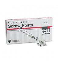 """Charles Leonard 1/2"""" L x 3/16"""" D Post Binder Aluminum Screw Posts, 100/Box"""