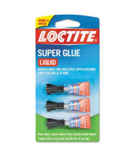 Loctite .03 oz Liquid Super Glue Tubes, 3-Pack