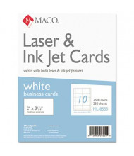 "Maco 2"" X 3-1/2"", 2500-Cards, Microperforated Business Card Stock"