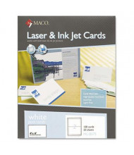 "Maco 4"" X 6"", 100-Cards, Unruled Index Card Stock"