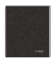 "Cambridge 8-7/8"" X 11"" 80-Sheet Legal Rule Meeting Notebook, Black Cover"