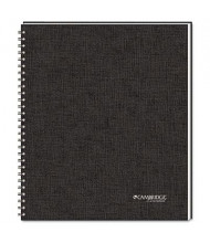 "Cambridge 8-7/8"" X 11"" 80-Sheet QuickNotes Business Notebook, Black Cover"