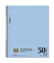 "Mead 8-1/2"" X 11"" 50-Sheet College Rule Notebook, Blue Cover"