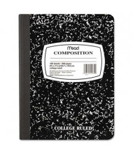 "Mead 7-1/2"" X 9-3/4"" 100-Sheet College Rule Composition Book, Black Marble Cover"