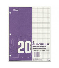 "Mead 8-1/2"" x 11"", 20lb, 240-Sheets, Quadrille Graph Paper"