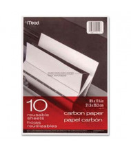 "Mead 8-1/2"" x 11"", 10-Sheets, Black Carbon Mill Finish Paper"