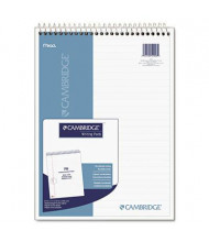 "Cambridge 8-7/8"" X 11"" 70-Sheet Numbered Legal Rule Notepad, White Paper"