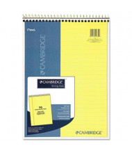 "Cambridge 8-7/8"" X 11"" 70-Sheet Legal Rule Notepad, Canary Paper"