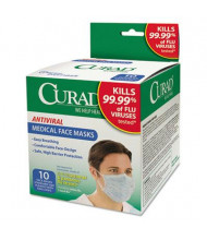 Curad Antiviral Medical Pleated Face Mask, 10/Box