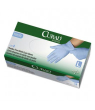 Curad Large Powder-Free Nitrile Exam Glove, Blue, 150/Box