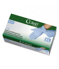 Curad X-Large Powder-Free Nitrile Exam Glove, Blue, 130/Box