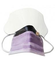 Medline Prohibit Polypropylene & Cellulose Face Mask with Eyeshield, Peach, 25/Box