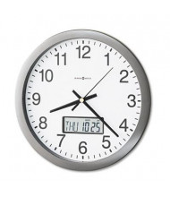 "Howard Miller 14"" Chronicle LCD Inset Wall Clock, Gray"