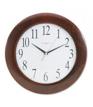 "Howard Miller 12.8"" Corporate Wall Clock, Cherry"