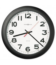 "Howard Miller 15.8"" Norcross Auto Daylight-Savings Wall Clock, Black"