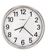 "Howard Miller 12"" Hamilton Quartz Wall Clock, Silver"