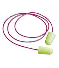 Moldex Pura-Fit Single-Use Corded Earplugs, 33NRR, Bright Green, 100 Pairs