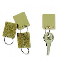 """SteelMaster 1-1/4"""" Hook & Loop Fastener Replacement Key Tag, Tan, 12/Pack"""