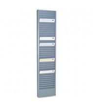"SteelMaster 40 Pocket Steel Swipe Card & Badge Rack, 4-1/8"" x 18-11/16"", Gray"