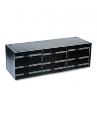 SteelMaster 12-Compartment Pull Out Shelves Literature Sorter, Black