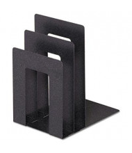 SteelMaster 3-Compartment Soho Bookend with Squared Corners, Granite