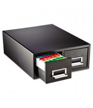 """SteelMaster 16"""" Dual Drawer Card Cabinet Holds 3000 3"""" x 5"""" Cards"""