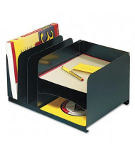 SteelMaster 6-Section Steel Letter Size Combo Organizer, Black