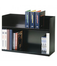 "SteelMaster 20"" H Two-Tier Steel Book Rack, Black"