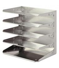 SteelMaster Five-Tier Soho Horizontal Steel Organizer Letter Tray, Silver