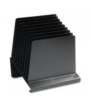 SteelMaster 8-Section Slanted Steel Vertical Organizer, Black
