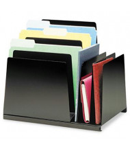 SteelMaster 8-Section Slanted Steel Combination File Organizer, Black