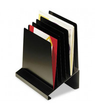 SteelMaster 6-Section Slanted Steel Vertical Organizer, Black