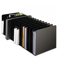 SteelMaster 15-Section Steel Message Rack, Black