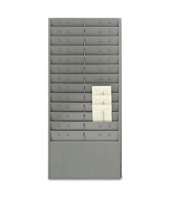 SteelMaster 24 Pockets with Adjustable Dividers Steel Time Card Rack, Gray