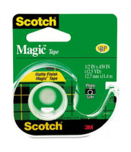 "Scotch 1/2"" x 12.5 yds Magic Tape with Dispenser, Clear, 1"" Core"