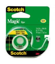 "Scotch 3/4"" x 8.3 yds Magic Tape with Dispenser, Clear, 1"" Core"