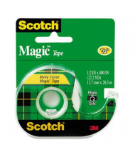 "Scotch 1/2"" x 22.2 yds Magic Tape with Dispenser, Clear, 1"" Core"