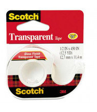 "Scotch Transparent Tape with Dispenser, Clear, 1"" Core"