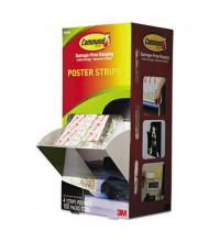 "Command 3/4"" x 2-1/8"" Poster Strips, White, 100/Carton"