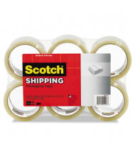 """Scotch 1.88"""" x 54.6 yds Clear General Purpose Packaging Tape, 3"""" Core, 6-Pack"""
