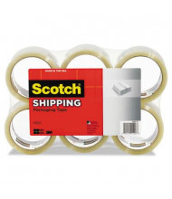 "Scotch 1.88"" x 109 yds Clear General Purpose Packaging Tape, 3"" Core, 6-Pack"