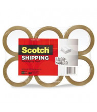 "Scotch 1.88"" x 54.6 yds Tan General Purpose Packaging Tape, 2"" Core, 6-Pack"