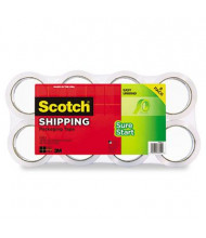 """Scotch 1.88"""" x 54.6 yds Sure Start Packaging Tape, 3"""" Core, 8-Pack"""