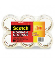 """Scotch 1.88"""" x 54.6 yds Clear Moving & Storage Packaging Tape, 3"""" Core, 6-Pack"""