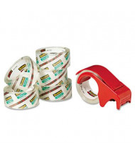 """Scotch Moving & Storage Packaging Tape with Dispenser, Clear, 6-Pack, 3"""" Core"""