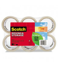 """Scotch 1.88"""" x 42.2 yds Clear Moving & Storage Packaging Tape, 3"""" Core, 6-Pack"""