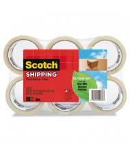 "Scotch 1.88"" x 49.2 yds Clear Greener Commercial Grade Packaging Tape, 3"" Core, 6-Pack"
