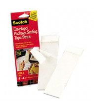 "Scotch 2"" x 6"" Clear Envelope/Package Sealing Tape Strips, 50-Pack"
