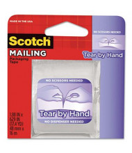 "Scotch 1.88"" x 17.5 yds Tear-By-Hand Packaging Tape, 1.5"" Core"