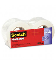 "Scotch 1.88"" x 50 yds Tear-By-Hand Packaging Tape, 1.5"" Core, 2-Pack"